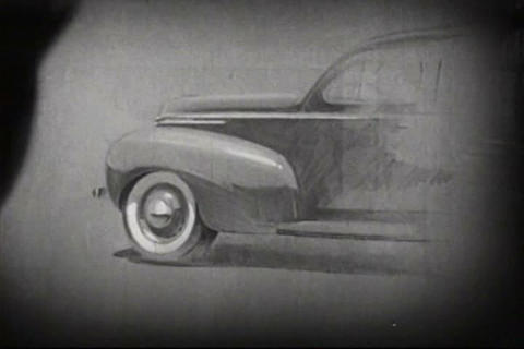 Soybeans Are Used In Car Manufacturing In 1938 stock footage