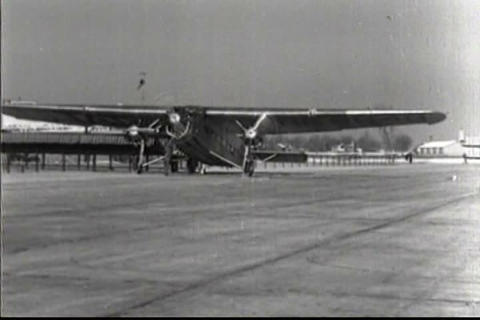 Early Commercial Aviation In 1928 (bad Sound) stock footage