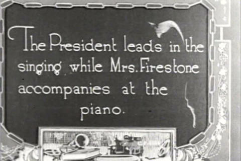 Warren Harding, Thomas Edison And Henry Ford Go Ca stock footage