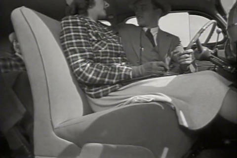 The 1940 Sedan Is Road Tested stock footage
