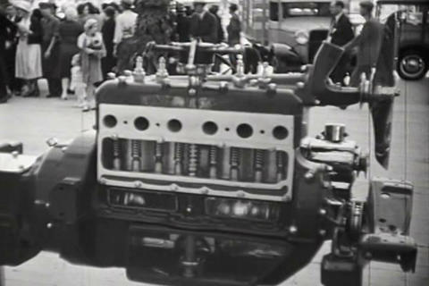 Ford Cars Are Introduced At The Michigan State Fai stock footage