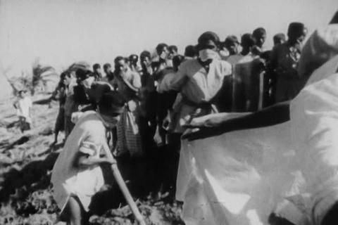 Dead bodies are pulled from the Ganges in 1971 aft Footage