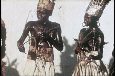 Maypole celebration in haiti in 1942 Footage