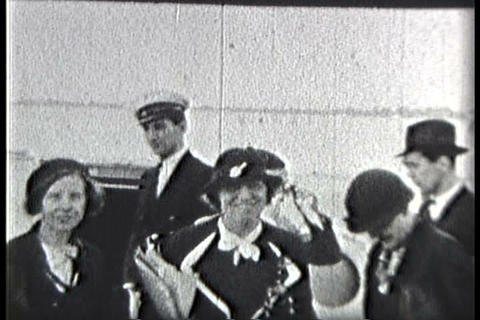 Home movies of Eleanor Roosevelt visiting the Cari Footage