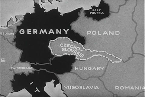 Hitler invades Czechoslovakia in World War Two Footage