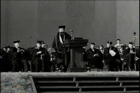 Students graduate on the UCLA campus in 1948 Footage