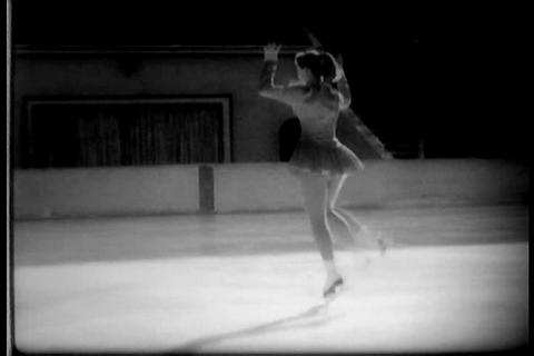 German ice skaters air for the Olympics in 1958 Footage