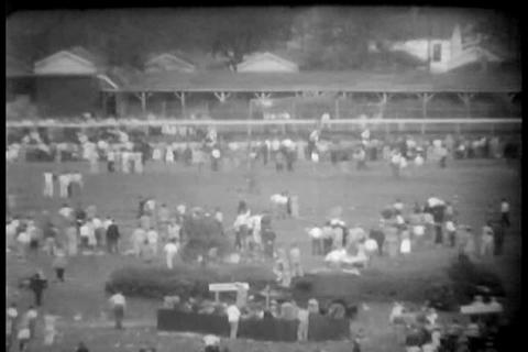 Kentucky Derby Race Of 1958 stock footage