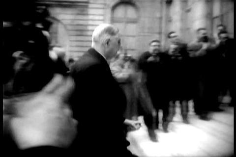 Charles De Gaulle in Paris, France in 1958 Footage