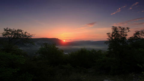 Timelapse sunrise in the mountains. Cave city Tepe Footage