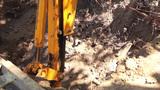 Excavator Tractor stock footage