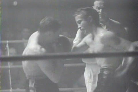 Captured Italian war film from 1942 shows a boxing Footage