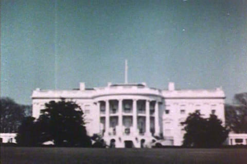 In the 1950s, the White House stands by to give or Stock Video Footage