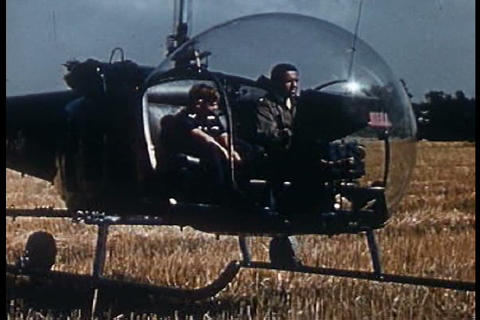 Let's take a ride in a helicopter in 1953 Footage