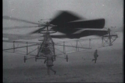 The 1922 flight of the de Bothezat Flying Octopus  Footage