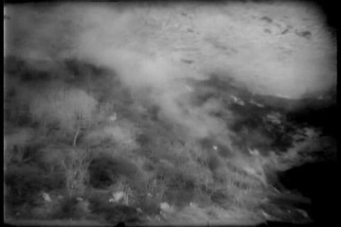 A huge fire burns in Malibu in 1958 Footage