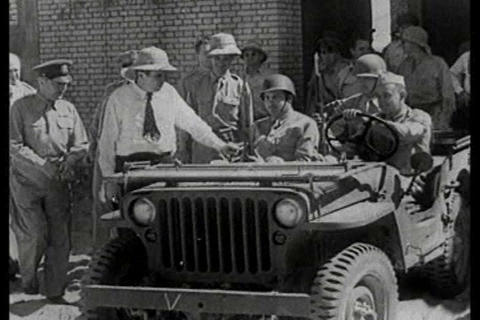 Jeeps are used extensively in World War Two Live Action