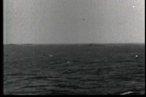 The U.S.S. Guadalcanal goes submarine hunting in W Footage