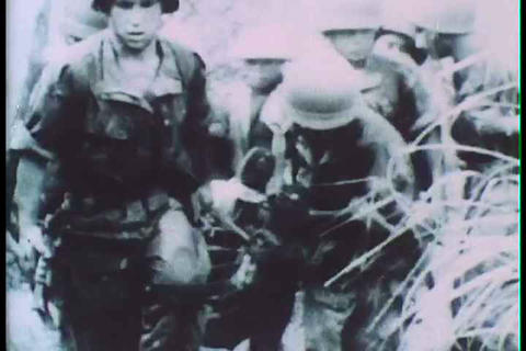 The battle of Dien Bien Phu in 1954 Footage