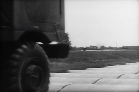 Trucks are tested by the U.S. Army in the 1960s Live Action