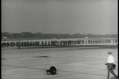 The army trains airborne units in the 1950s Footage