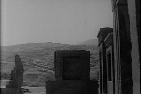 Persepolis in Iran is explained in this 1971 newsr Footage