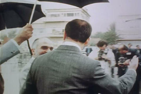 Hafez al-Assad of Syria meets with King Hussein of Live Action