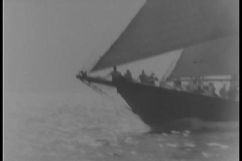 Champion schooner makes final run on eve of race c Footage