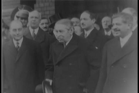 French statesmen visit Berlin Germany Footage