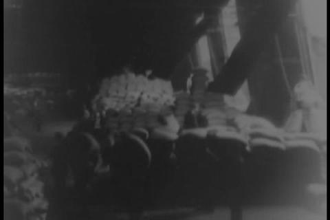 Shipping At A U.S. Port In 1931 stock footage