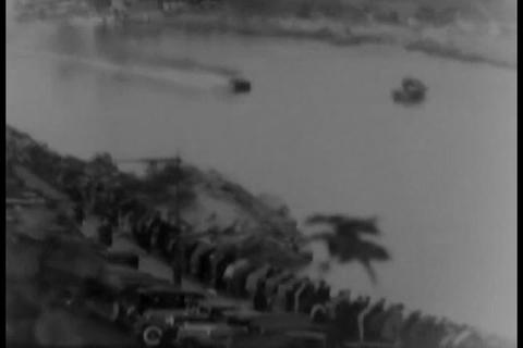 Speedboat record attempt in 1931 Footage