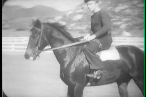 San Luis Rey Ranch In California, 1930s stock footage