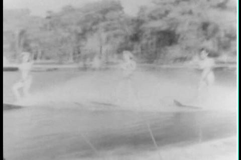 Water skiing at Cypress Gardens Florida in the 193 Footage