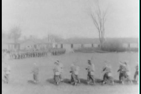 Troops train for war in the 1930s Footage