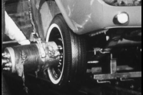 Newsreel footage of new tire technology in 1965 Footage