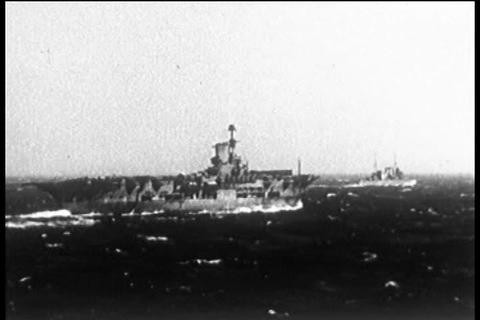 British Royal Navy at sea in 1940 as Blitzkrieg br Live Action
