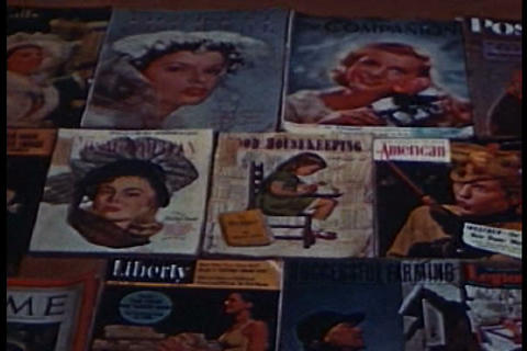 In The 1940s An Educated Population Begins To Buy  stock footage