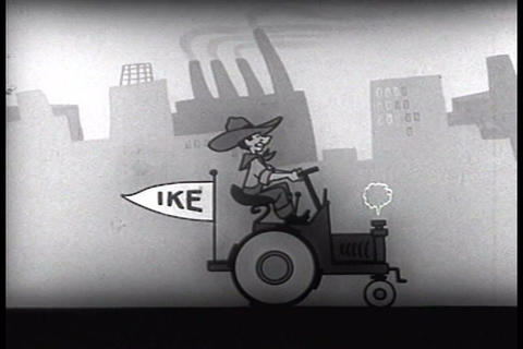 A campaign commercial for Dwight Eisenhower in 195 Footage