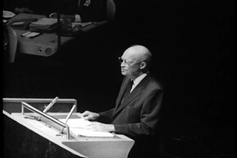 Dwight Eisenhower addresses the United Nations in  Footage