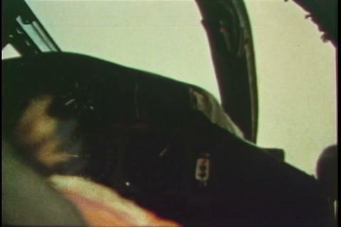 An air force jet pilot experiences an emergency an Footage