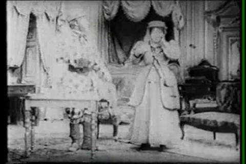 An unusual silent film uses stop motion animation  Footage