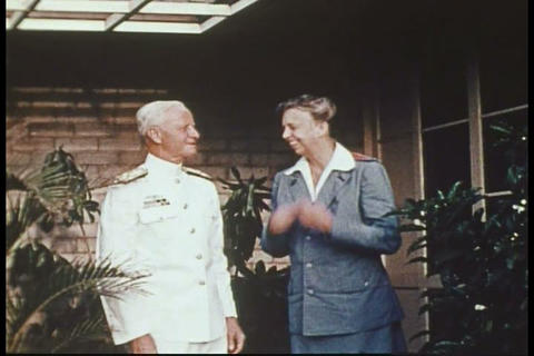 Silent color footage of Eleanor Roosevelt in Hawai Footage
