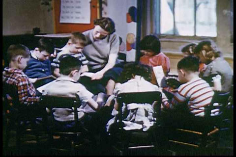 A 1950s film about the importance of learning to r Footage
