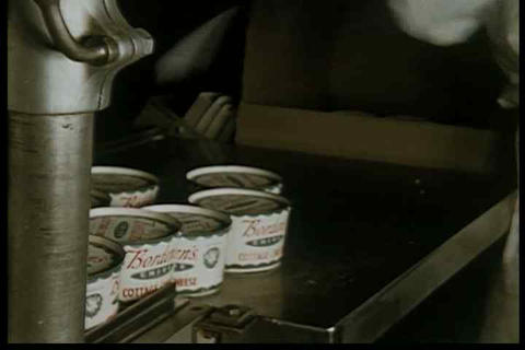 Cottage cheese is tested in the factory in the 195 Live Action