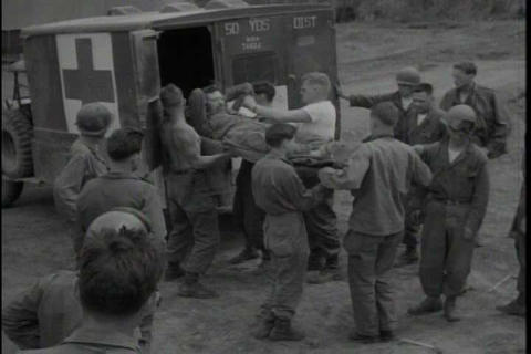 Army troops arrive in Korea in 1950 and the seriou Footage