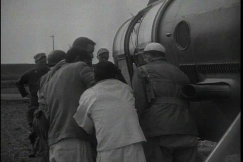 Korean soldier talks about being a medic in 1950 Footage