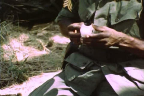 Army medical hospitals are parachuted into Vietnam Footage