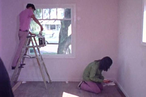 In the 1970s. kids in Portland Oregon work on reno Live Action