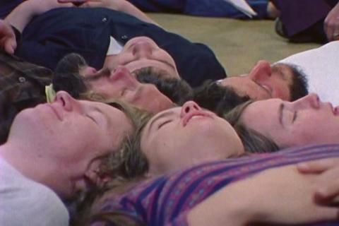 1970s new age zen environmental fantasy exercise Footage