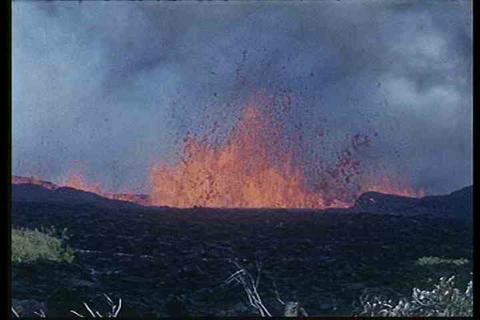 1960s footage of Hawaii's volcanic eruptions Footage